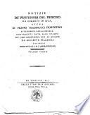 Notizie de' professori del disegno da Cimabue in qua, opera di Filippo Baldinucci fiorentino