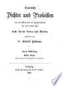 Deutsche Dichter und Prosaisten von der Mitte des 15  Jahrhunderts bis auf unsere zeit nach ihrem Leben und Wirken