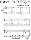 Canon in D Beginner Piano Sheet Music