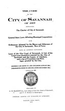 The Code of the City of Savannah of 1907