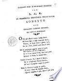Facendo egli l orazione funebre per S A R  la principessa ereditaria delle Sicilie  Sonetto del cavaliere Giuseppe Pagliuca de  conti di Manupello