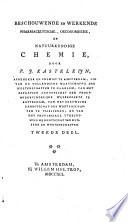 Beschouwende en werkende pharmaceutische, oeconomische en natuurkundige chemie