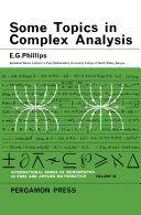Some Topics in Complex Analysis