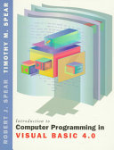 Introduction to Computer Programming in Visual Basic 4 0