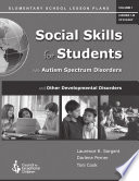 Social Skills For Students With Autism Spectrum Disorder And Other Developmental Disabilities