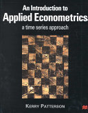 An Introduction To Applied Econometrics