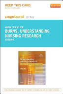 Understanding Nursing Research Pageburst on Kno Retail Access Code