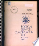 Foreign Service Classification List