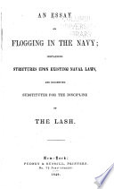 An Essay on Flogging in the Navy