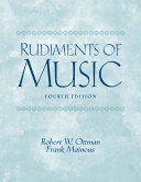 Rudiments of Music The First Semester Pre Theory Course Non Music