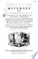 Oeuvres diverses de M  Pierre Bayle