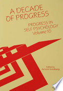 Progress in Self Psychology, V. 10