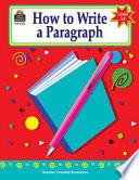How To Write A Paragraph Grades 6 8
