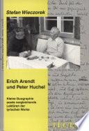 Erich Arendt und Peter Huchel