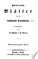 Historisch politische Bl  tter f  r das katholische Deutschland