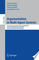Argumentation in Multi Agent Systems