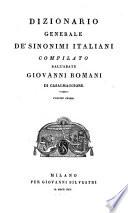 Dizionario generale de  sinonimi italiani