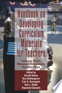 Handbook on Developing Curriculum Materials for Teachers