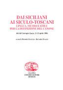 Dai siciliani ai siculo toscani