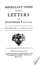 Miscellany Poems  by way of Letters to several Eminent Persons