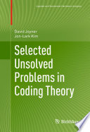 Selected Unsolved Problems in Coding Theory Pdf/ePub eBook
