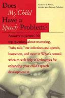 Does My Child Have a Speech Problem