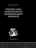 Themes and Variations in Shakespeare's Sonnets