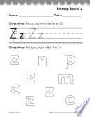 Kindergarten Foundational Phonics Skills  Primary Sound z