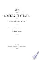 Atti della Societ   italiana di scienze naturali e del Museo civico di storia naturale in Milano