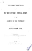 Annual Report on the New York State Museum of Natural History