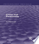 Crime and Personality  Psychology Revivals