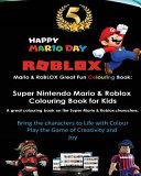 Mario   Roblox Great Fun Colouring Book