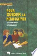 illustration du livre Pour Guider la Métacognition