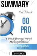 Summary Eric Werre s Go Pro