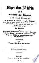 Stipendien-Büchlein