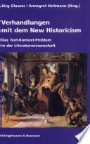 Verhandlungen mit dem New Historicism