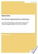 Die Baseler Eigenkapitalvereinbarung