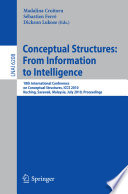Conceptual Structures From Information To Intelligence