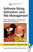 Software Sizing  Estimation  and Risk Management