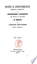 Biografie dei capitani venturieri dell Umbria scritte ed illustrate con documenti da Ariodante Fabretti