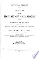 Official Report of the Debates  House of Commons