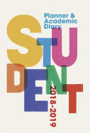 Student Planner and Academic Diary 2018 2019