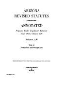 Arizona Revised Statutes Annotated