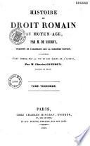 Histoire De Droit Romain Au Moyen Ge