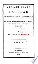 Adriani Vlacq Tabulae trigonometricae