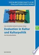 Evaluation in Kultur und Kulturpolitik