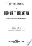 Revista cr  tica de historia y literatura espa  olas  portuguesas    hispano americanas