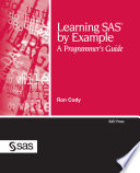 Ebook Learning SAS by Example Epub Ron Cody, EdD Apps Read Mobile