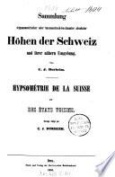 Hypsométrie de la Suisse et des états voisins