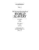 The Historical Encyclopedia of World Slavery  L Z